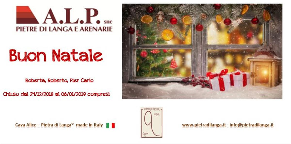 Merry Christmas and Happy 2019 from A.L.P. di Berchialla