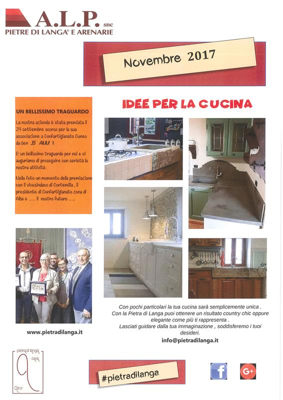 November ...Ideas for yours kitchen with Langa's Stone #pietradilanga